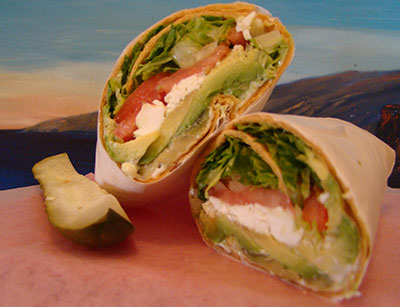 Avocado + Feta Wrap